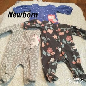 Baby Girls newborn footies sleepers bundle 💕